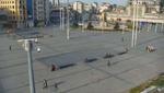 Taksim Square, Istanbul, Turkey. April 13, 2020. 10:20:11 PM PST