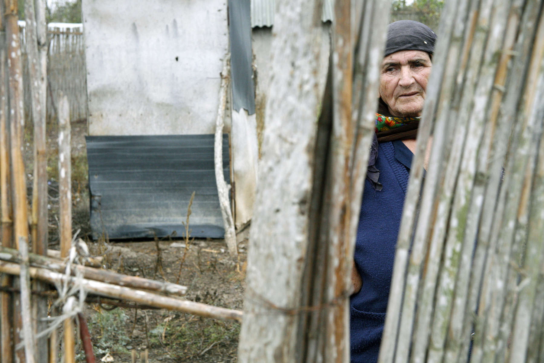 A refugee from Fuzuli, in a camp built as temporary housing in 1993 for refugees fleeing the conflict in Nagorno Karabakh between Azerbaijan and Armenia.