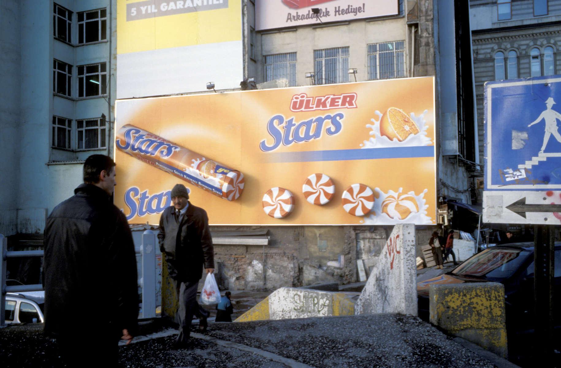 Istanbul street scene. November, 2004.