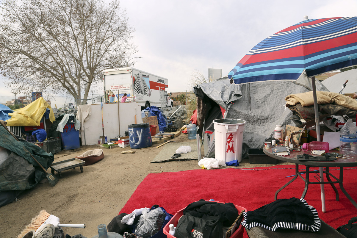 In the weeks between the first eviction order and the final resolution of the lawsuit filed on behalf of residents of the encampment, a few hundred residents moved out on their own -- finding temporary housing in shelters or with friends, or moving to another location outdoors.