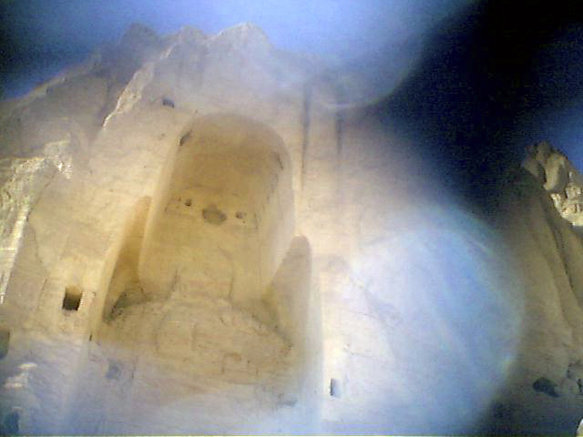 Niche once occupied by a giant 5th -century  Buddha statue, until it was destroyed by the Taliban in March, 2001.