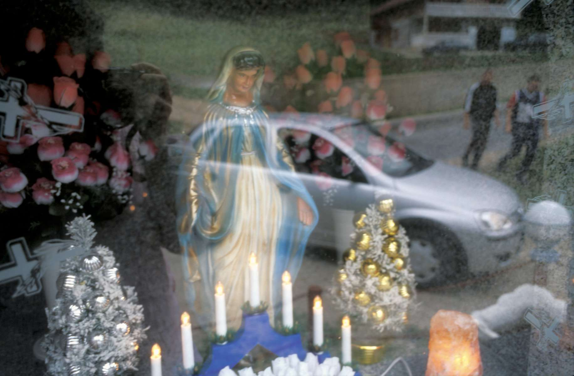 A Catholic roadside shrine near the town of Travnik.