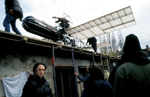 The film set of director Benjamin Filopovic\'s feature film, \{quote}Well-Tempered Corpses,\{quote} a black comedy scheduled for 2005 release. Bosnia\'s film industry has been thriving in recent years, with many directors making films with war-related themes. April 2004.