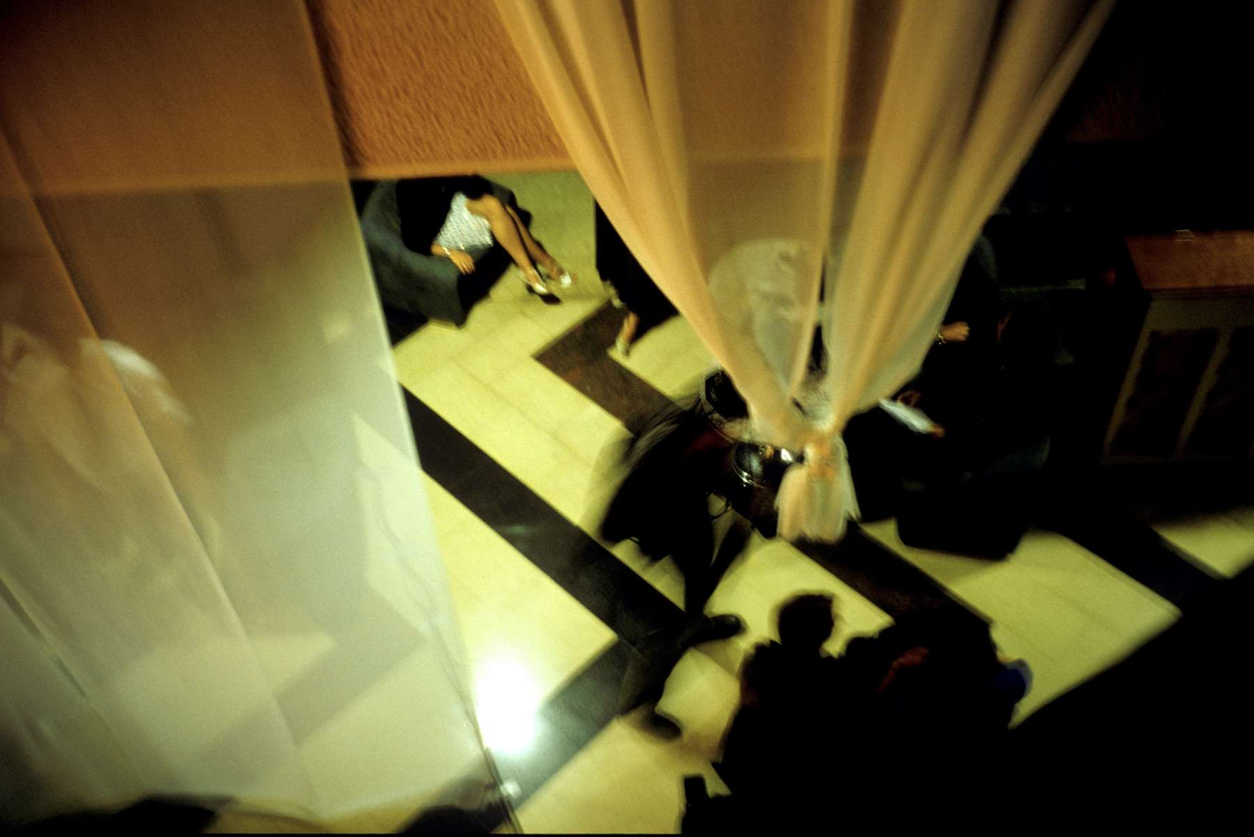 Backstage at the 2002 Miss Bosnia and Hercegovina contest, held at the Holiday Inn.