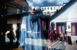 A scarved mannequin in bacarsija, the old town area of Sarajevo, is a reflection of the increased interest in Islam among many Bosnian Muslims after the war. April 2002.