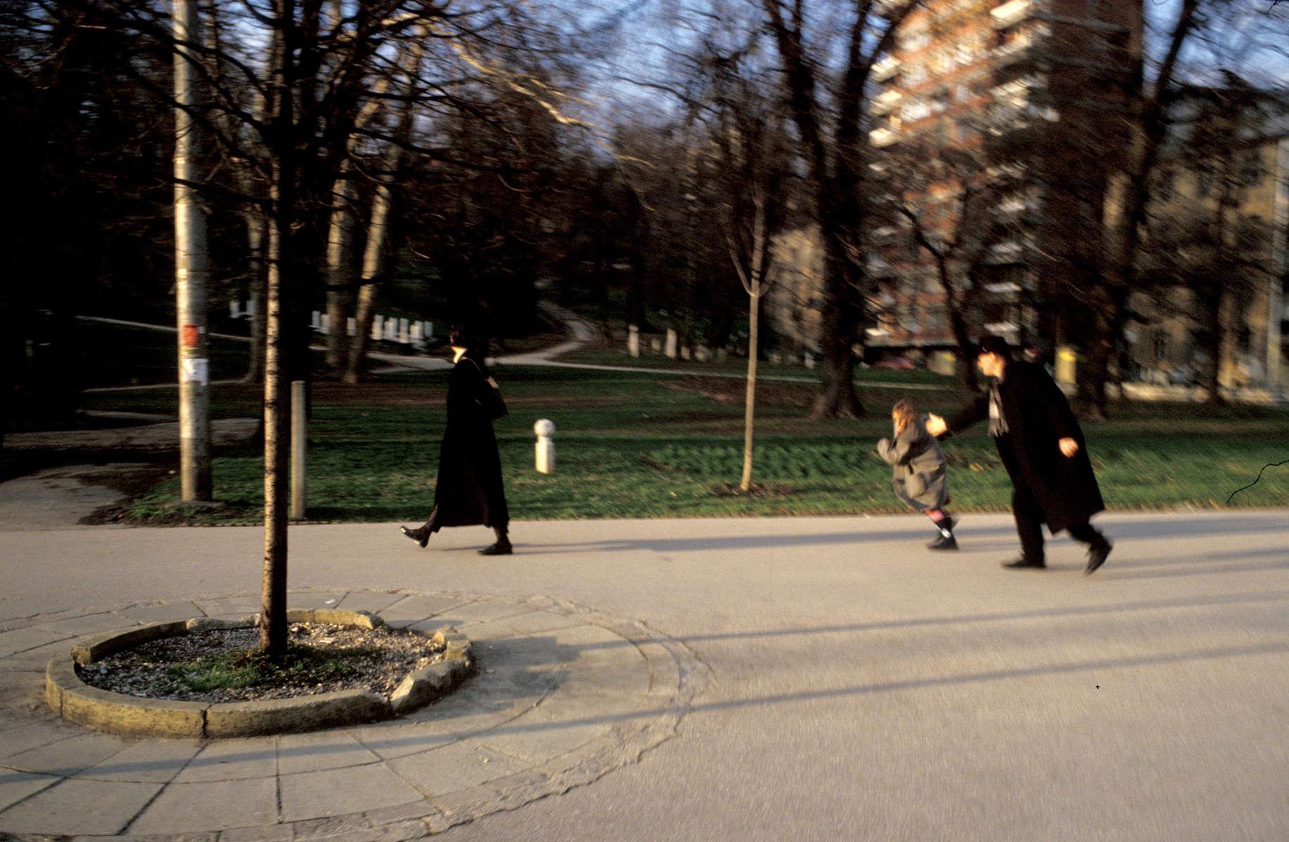 Street scene, Sarajevo. March 2004.