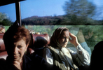 Srebrenica widows head back to Sarajevo after a day spent in Srebrenica, where they had gone to see the homes they were forced to leave in 1995, when Serb forces overran their town and massacred 7,000 to 8,000 men and boys. Most of the widows\' homes were occupied by Serb refugees after the end of the war, and the women were beginning the legal process of reclaiming their property -- and deciding whether they wanted to return to their homes. October 2000.