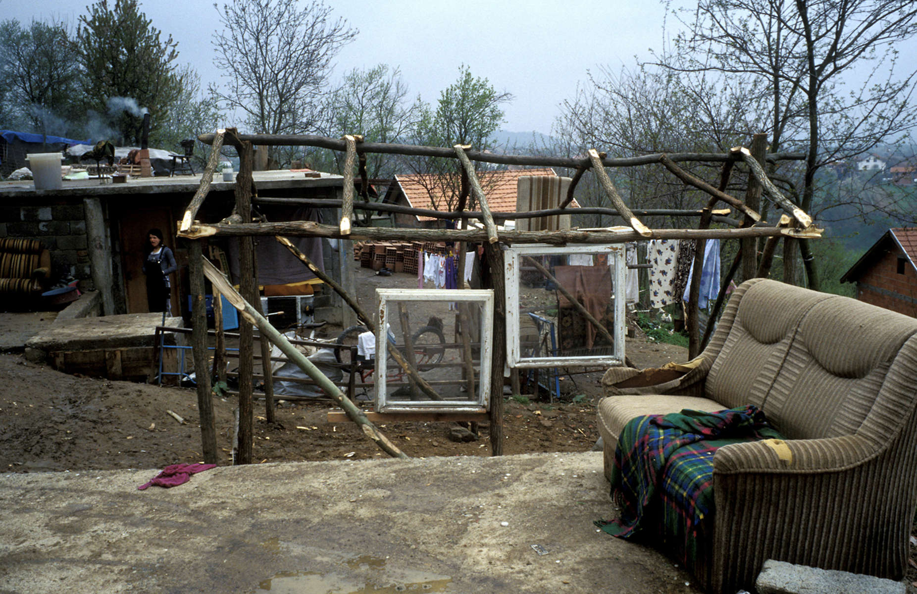 Roma who were \{quote}cleansed\{quote} by Serbs in the early months of the 1992-95 war return to rebuild their village.
