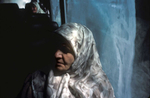 A Srebrenica widow on board a bus going to the groundbreaking ceremonies for a memorial to the 7,000 to 8,000 Muslim men and boys who were killed by Serb forces in 1995.