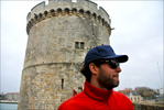 Castle defends the harbor, town of La Rochelle, on the Atlantic Ocean, what a history!