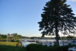 Wonderful summer afternoon near waterfront