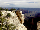 Beautiful scene at edge of Grand Canyon, North Rim