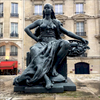 One of a handful of such stately sculptures that greet us upon arrival, Musee D'Orsay, Paris, France