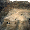 Lowest place on earth, home to Essene sect northeast of Dead Sea, site of discovery of Dead Sea Scrolls, very exciting, mysterious place.