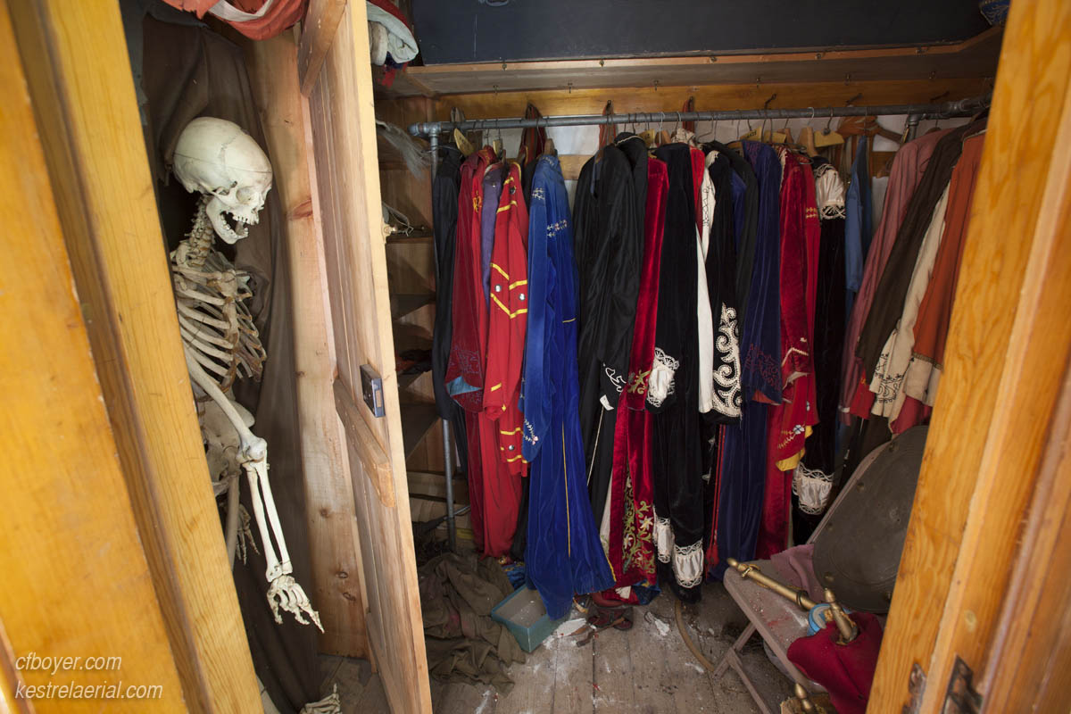 Actual skeletons in the closet.