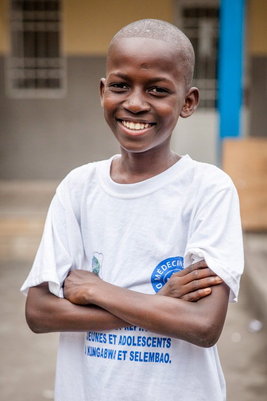 Fourteen year-old Elie Mvemba says he is too young to be having sex. But he is a passionate advocate for sexual health information and services for young people in Kinshasa. September, 2016.