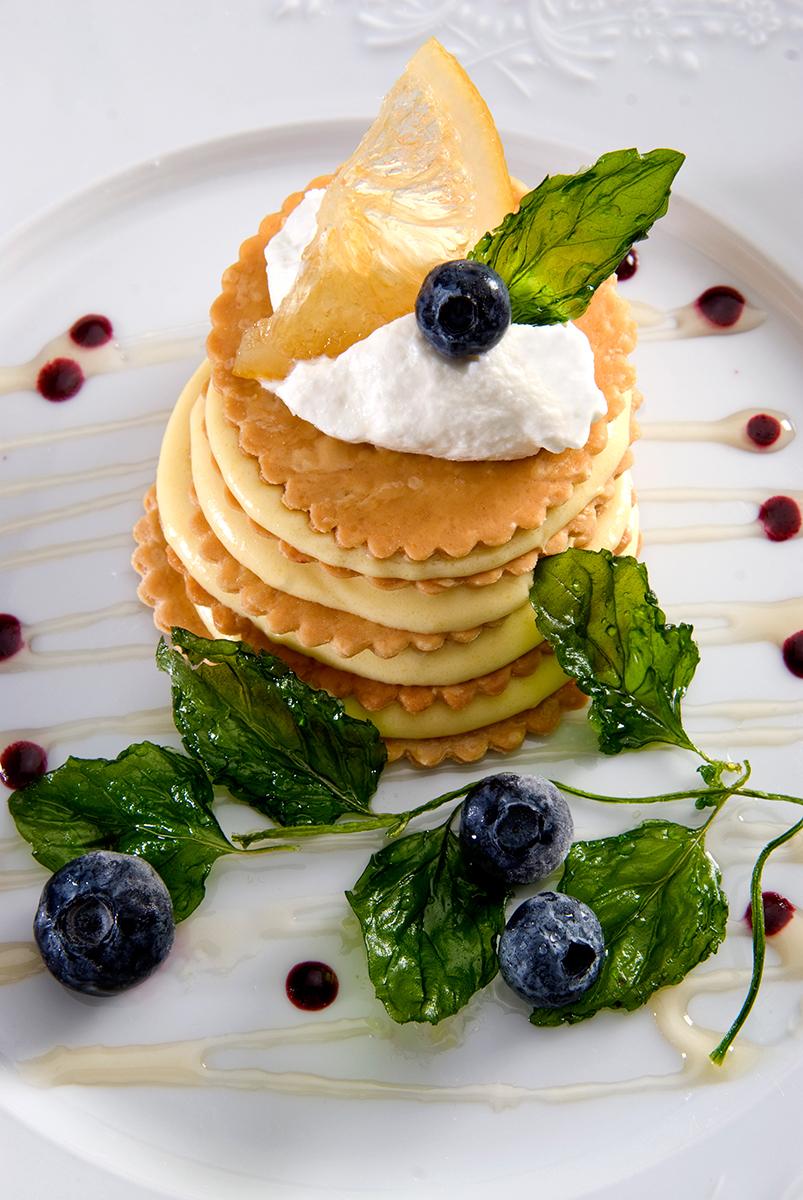 Waffer dessert-Carl Kravats food phtographer