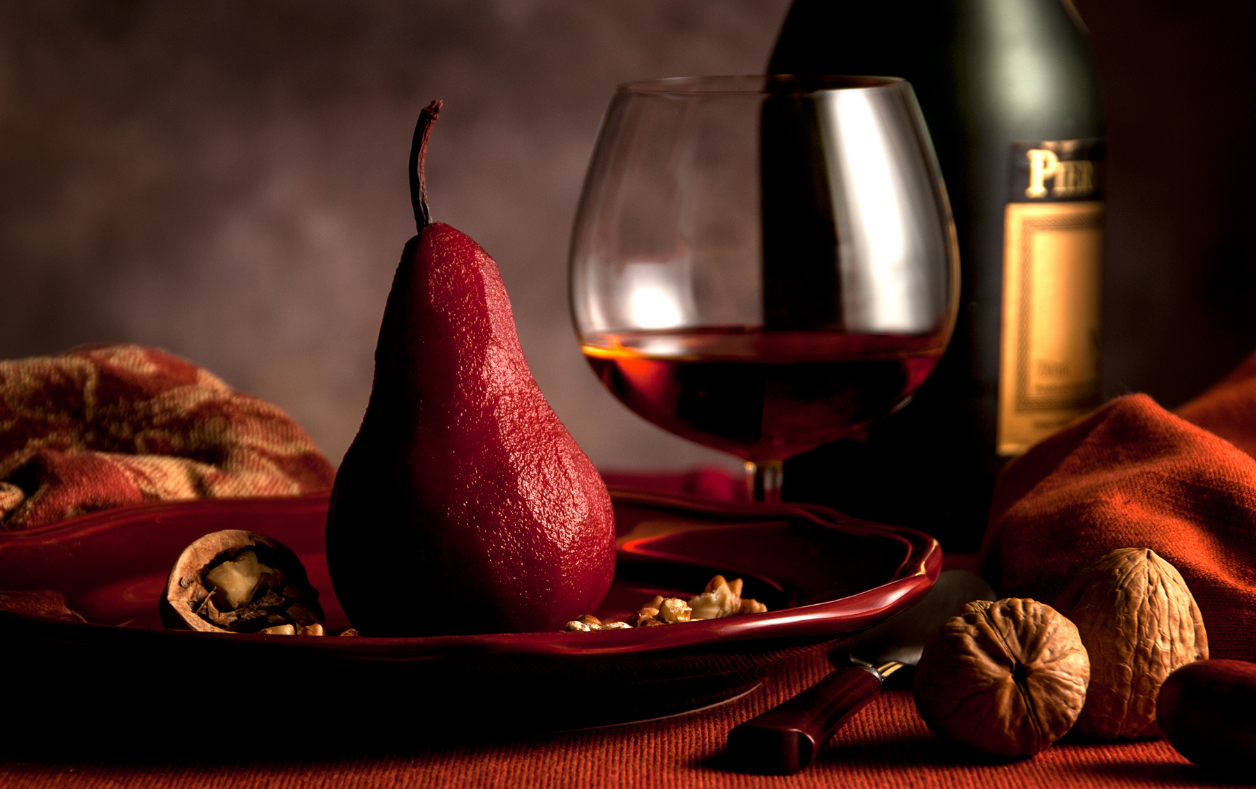 Poached Pears-Carl Kravats Food Photography