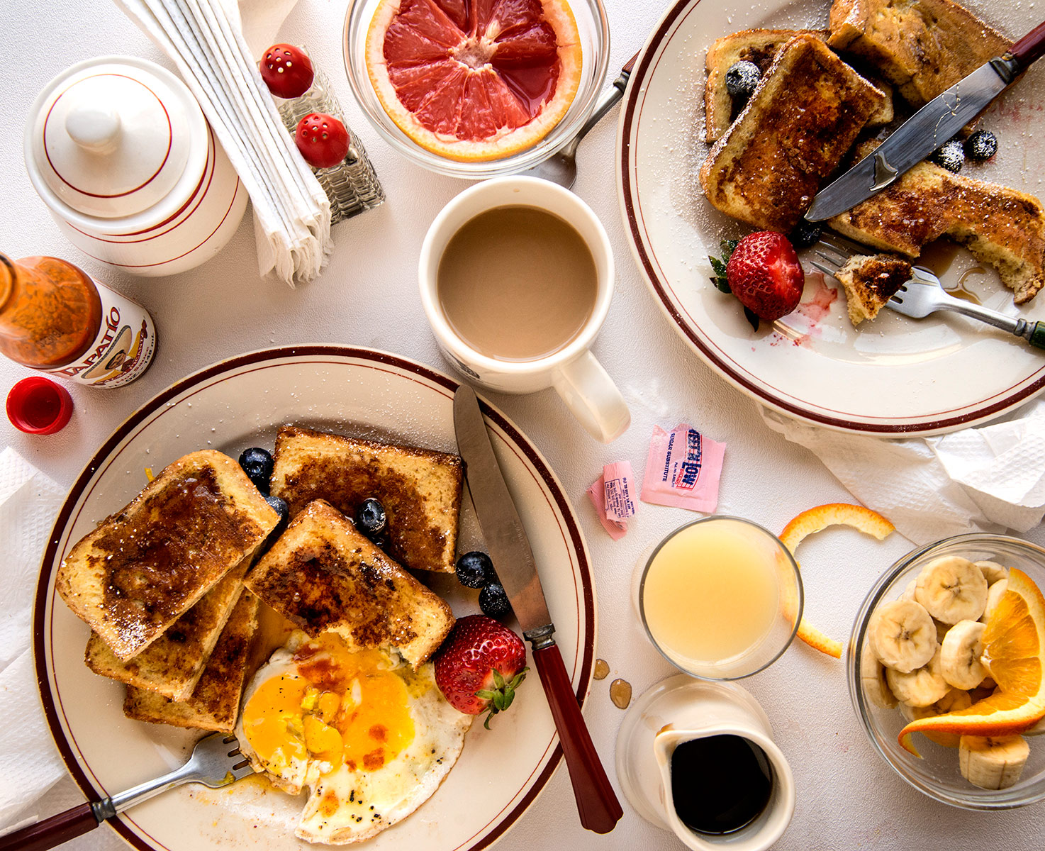 French Toast Breakast Table-Carl Kravats Food Photography