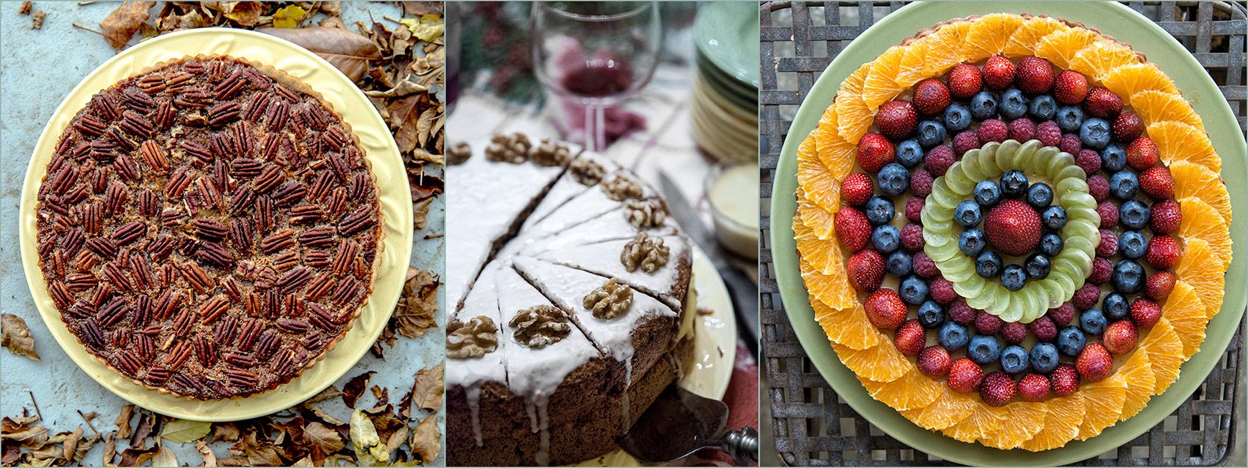 pecan-pie-carrot-cake-fruit-tart