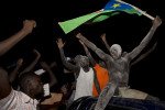 Juba residents join impromptu street parties to celebrate independence.Juba, South Sudan