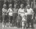Gull Lake Dan, Mary, Kevin, Michael, Brian, Florrie, Patty. Daniel in Navy