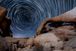 Arch Roch at night, Joshua Tree National Park Californa