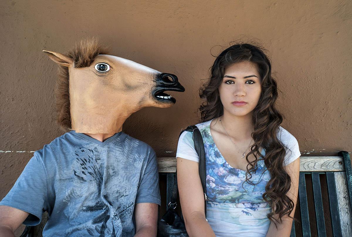 Horse mask, Sacramento Ca©rossthayer