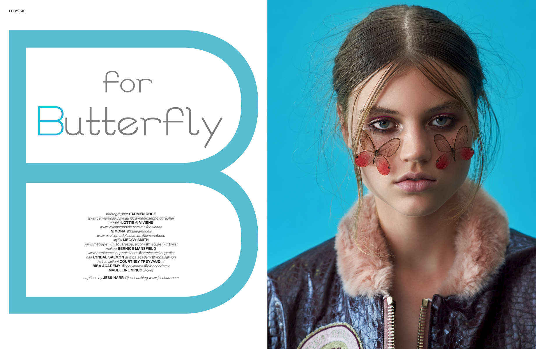 B for Butterfly shoot for lucy's by carmen rose.