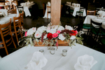 Rectangular shape is perfect for a sweetheart or farm table.