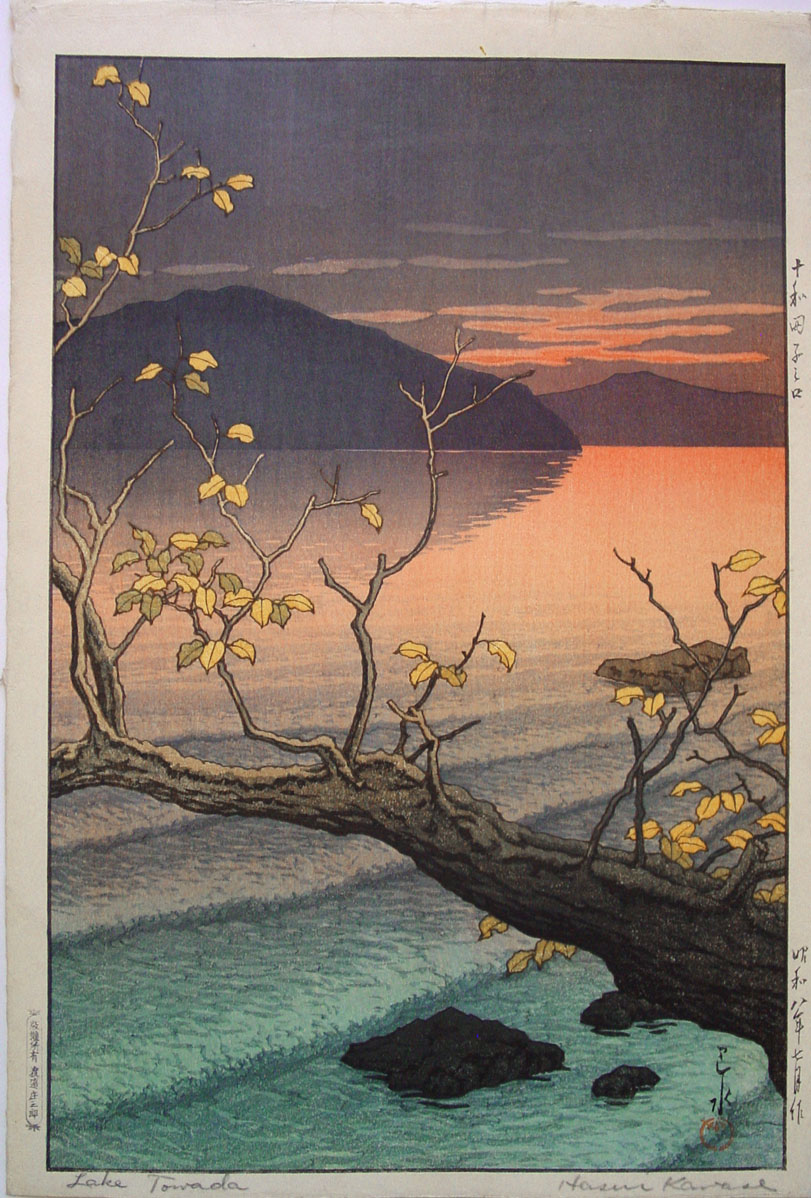 Lake Towada, Hasui Kawase