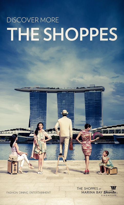 Advertisement for The Shoppes at Marina Bay Sand, 2014