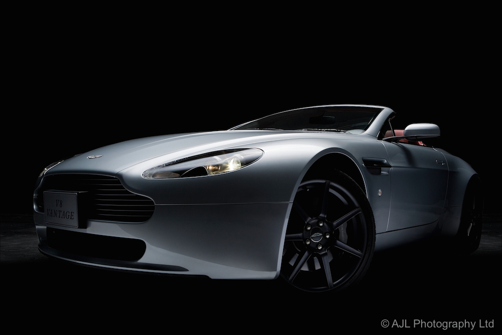 Photoshoot for an Aston Martin V8 Vantage