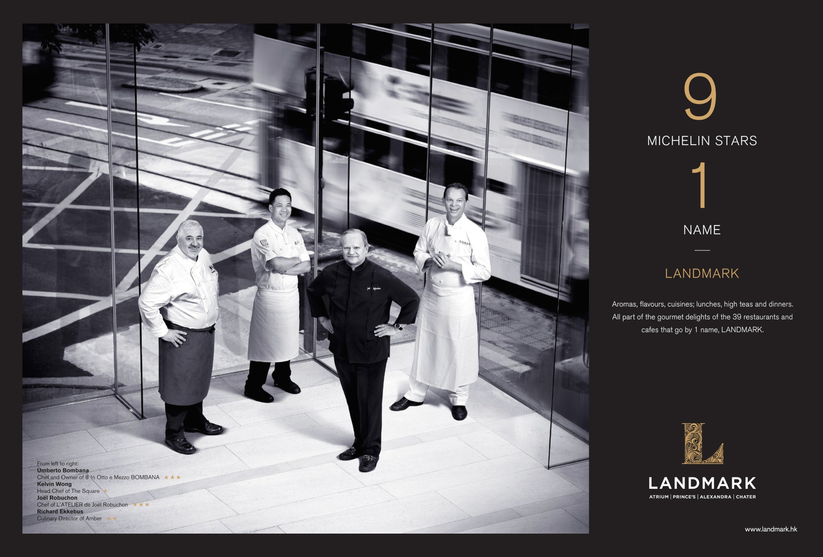 Advertisement for Landmark Michelin Chefs