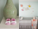 newborn baby details in nursery, newborn photographer