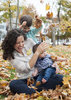 family photos in fall leaves, Jersey City