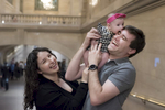family photos at Grand Central Terminal
