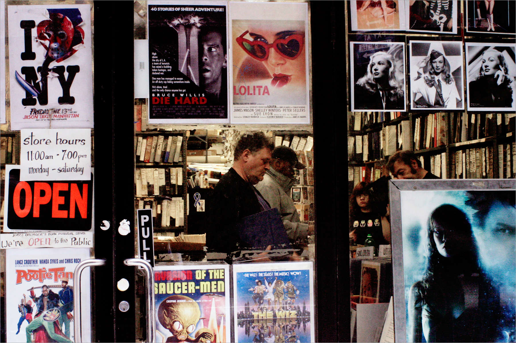 Jerry Ohlinger's Movie Material Store, West 35th Street, November 2005. Photo by Samantha Box2005 © Samantha Box