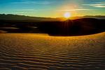 Sunburst Over Sand Dunes Death Valley