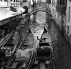 Canal with Three Gondolas Venice Italy