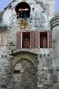 Brick Building with Windows Rhodes, Greece