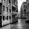 Canal with One Gondola Venice Italy