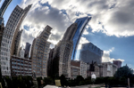 Chicago Skyline as Reflected on the Silver Bean