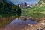 Maroon Bells Lake outside Aspen Colorado
