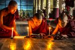 Three Monks Studying