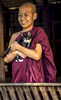 Monk with Cat