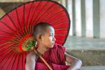 Monk in Swezigon  Monastery, Bagan