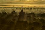 Clouds over Pagoda at Sunrise, Bagan