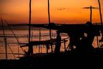 Sunset at a Mandalay Village