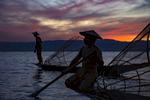 Two Fisherman at Inle Lake